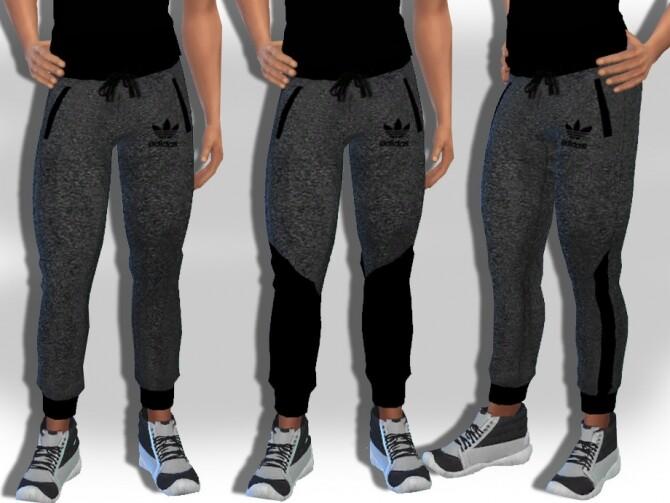 Sims 4 Male Sims Grey Melange Jogging Pants by Saliwa at TSR