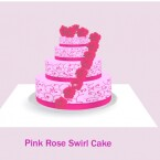 Pink Rose Swirl Cake For Baking by Laurenbell2016