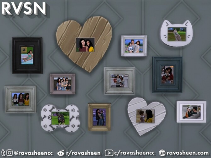 Sims 4 We Just Click Photo Collage Set by RAVASHEEN at TSR