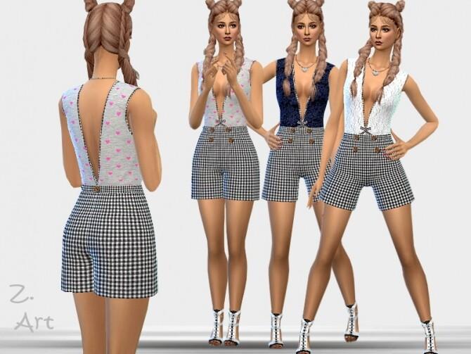Sims 4 TrendZ 20 04 Romper by Zuckerschnute20 at TSR
