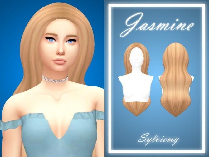 Sims 4 Jasmine Hair Set by Sylviemy at TSR
