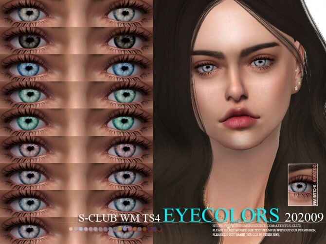 Sims 4 Eyecolors 202009 by S Club WM at TSR