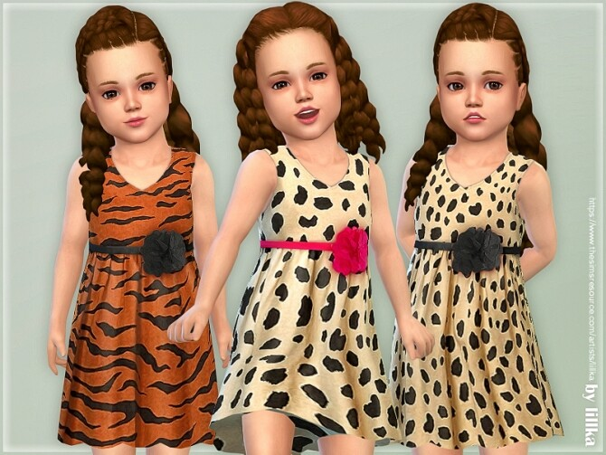 Sims 4 Toddler Dresses Collection P143 by lillka at TSR