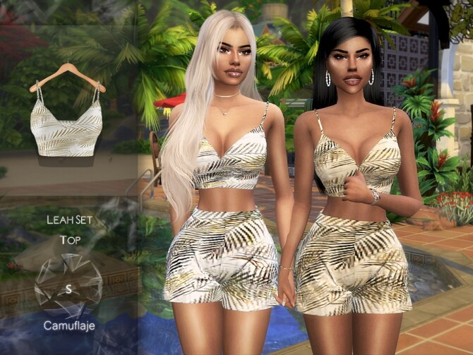 Sims 4 Leah Set Top by Camuflaje at TSR
