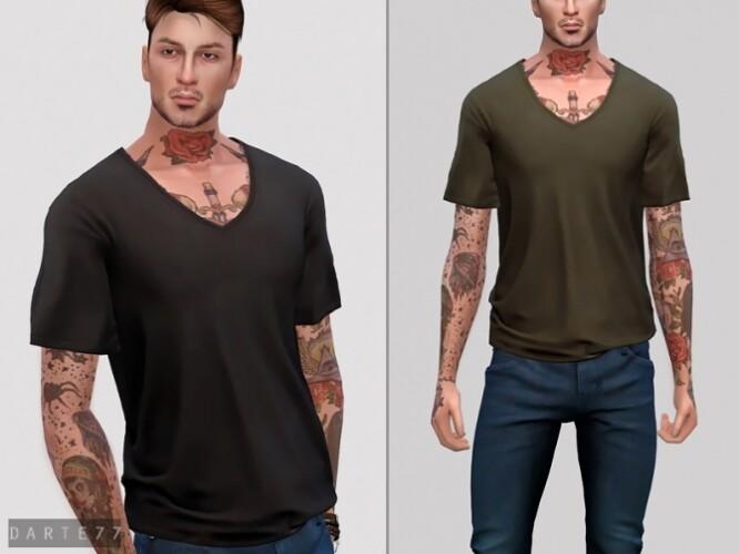 V Neck T-Shirt by Darte77