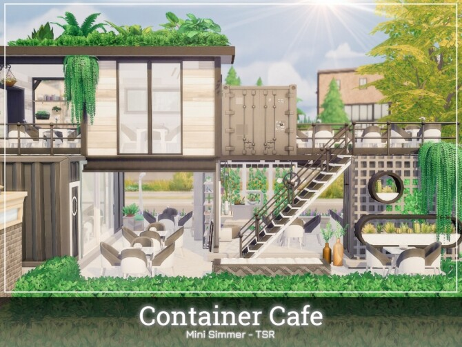 Container Cafe by Mini Simmer at TSR image 650 670x503 Sims 4 Updates