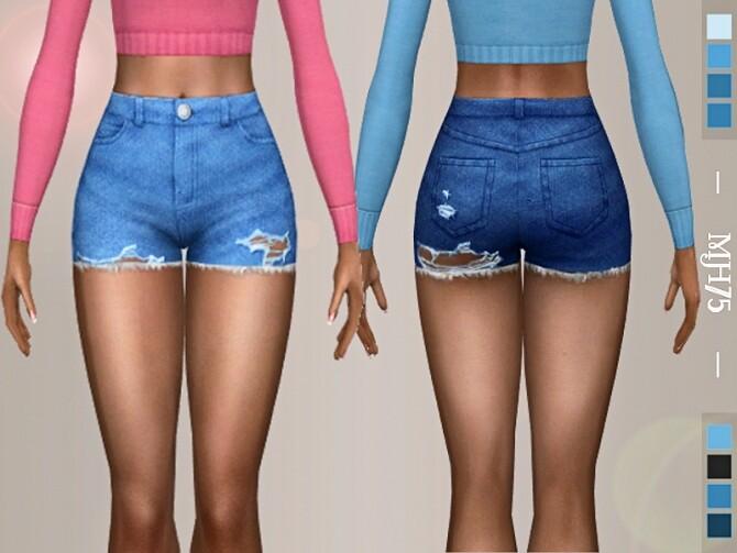 Sims 4 Tatijana Shorts by Margeh 75 at TSR