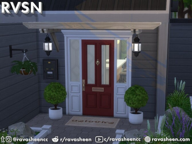 Sims 4 Straight Trellin Curb Appeal Set by RAVASHEEN at TSR