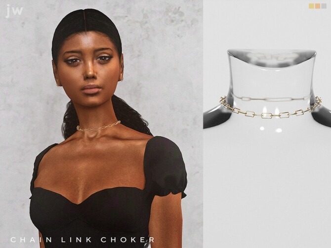 Sims 4 Chain Link Choker by  jwofles sims at TSR