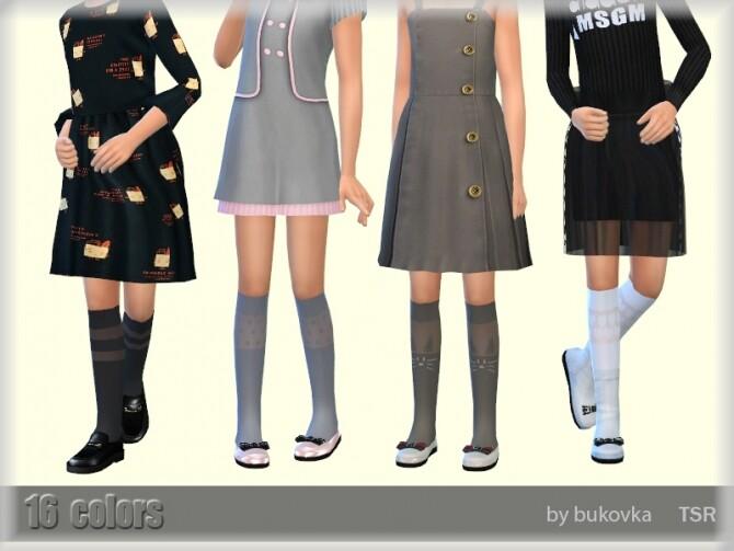 Sims 4 Knee Socks 2 by bukovka at TSR