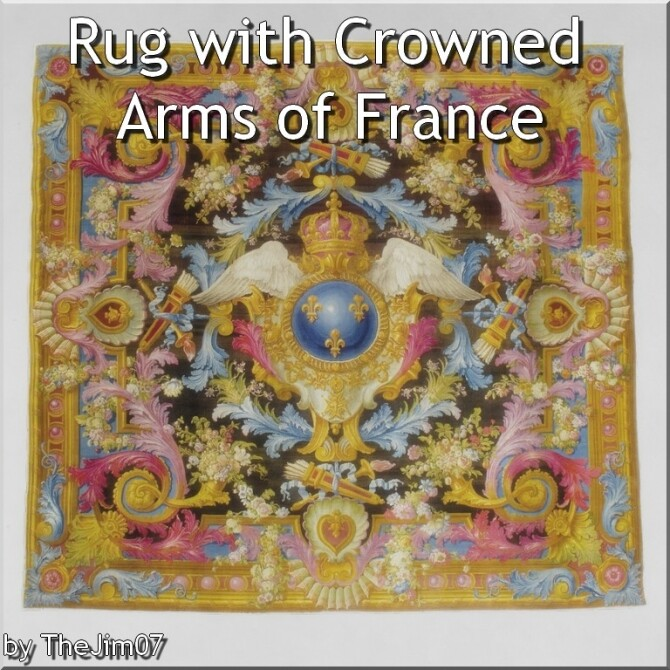 Sims 4 Rug with Crowned Arms of France by TheJim07 at Mod The Sims