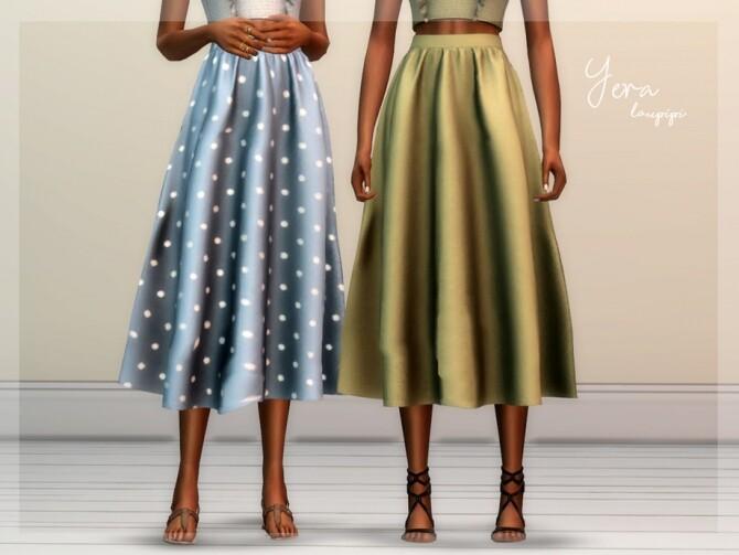 Yera midi skirt by laupipi at TSR image 6620 670x503 Sims 4 Updates