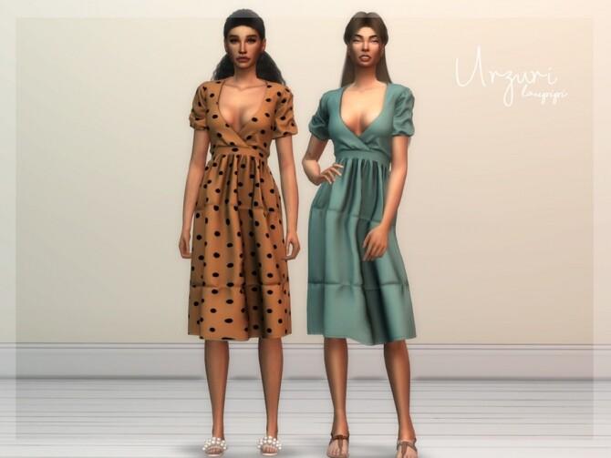 Sims 4 Urzuri summer dress by laupipi at TSR