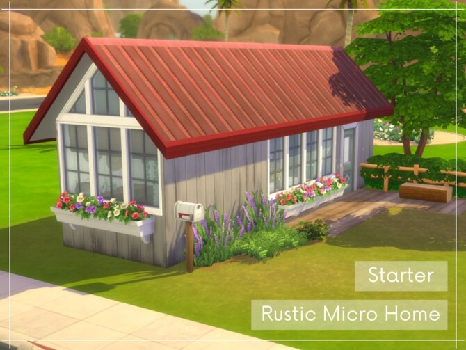 Sims 4 Starter Rustic Micro Home by A.lenna at TSR