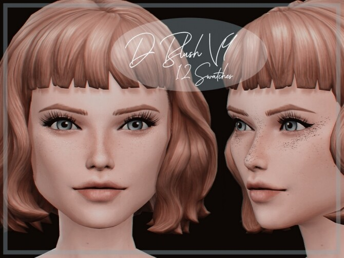 Sims 4 D Blush V4 by Reevaly at TSR