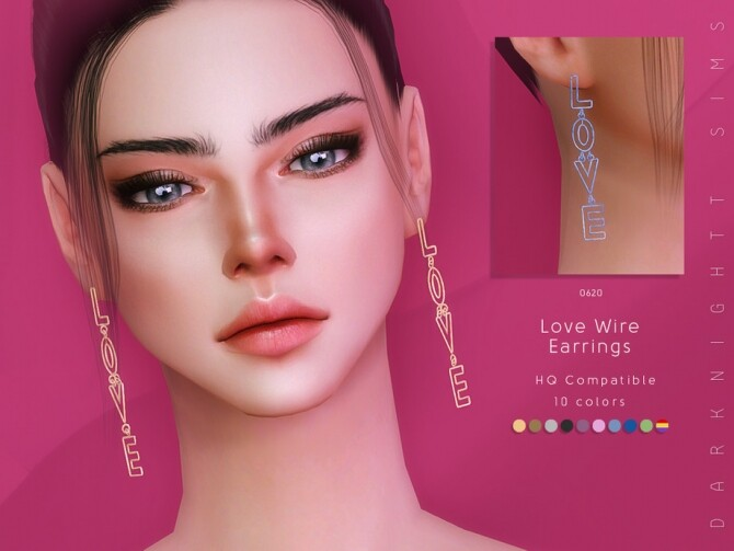 Love Wire Earrings by DarkNighTt at TSR image 6717 670x503 Sims 4 Updates
