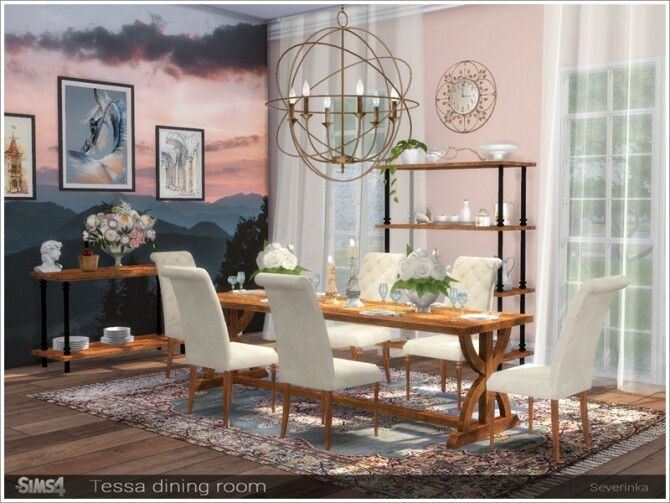 Tessa dining room by Severinka at TSR image 6719 670x503 Sims 4 Updates