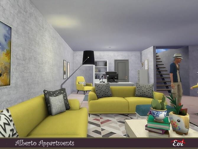 Sims 4 Alberto Apartmens by evi at TSR