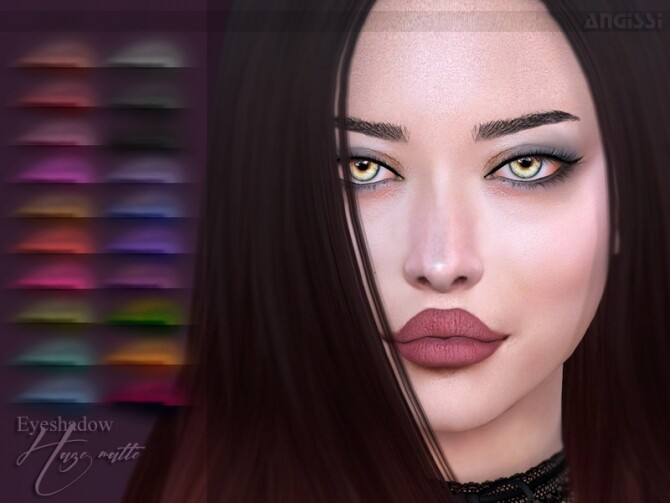 Sims 4 Eyeshadow Haze matte by ANGISSI at TSR