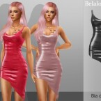 Bia asymmetrical latex dress by belal1997