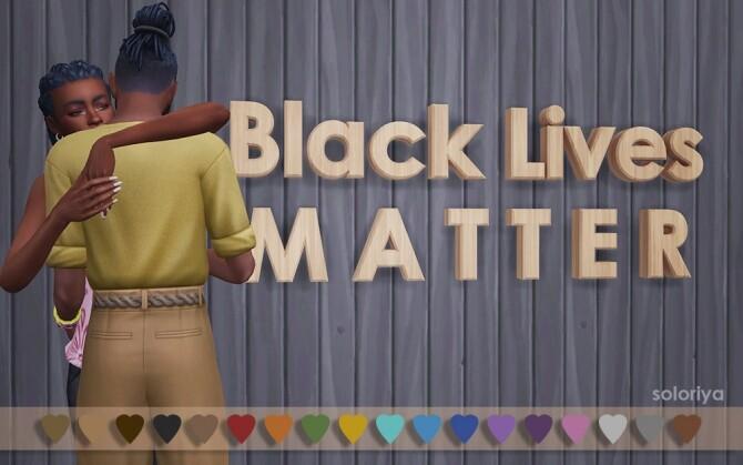 Black Lives Matter wall decor by Soloriya