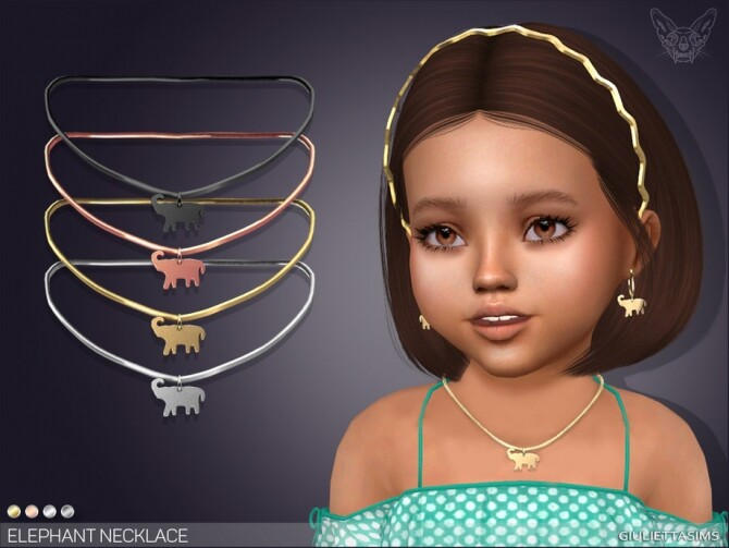 Sims 4 Elephant Necklace For Toddlers by feyona at TSR