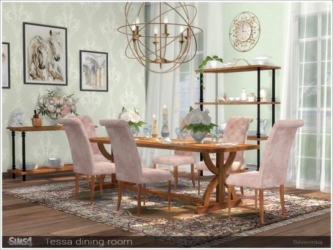 Tessa dining room by Severinka at TSR image 6918 670x503 Sims 4 Updates
