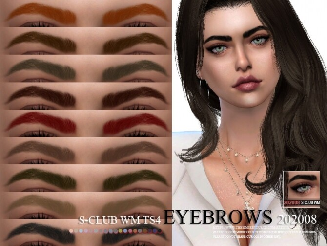 Sims 4 Eyebrows 202008 by S Club WM at TSR