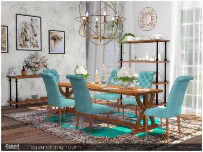 Tessa dining room by Severinka at TSR image 7019 670x503 Sims 4 Updates