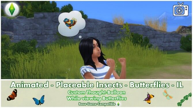 Sims 4 Animated Placeable Insects   Butterflies IL by Bakie at Mod The Sims