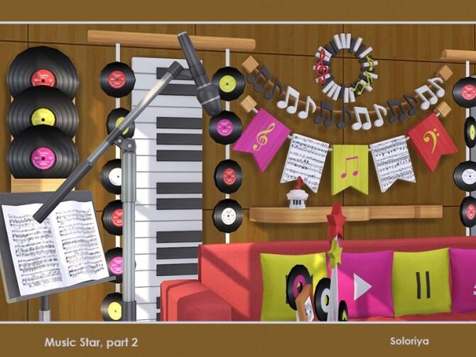 Music Star Set part 2 by soloriya at TSR image 706 670x503 Sims 4 Updates
