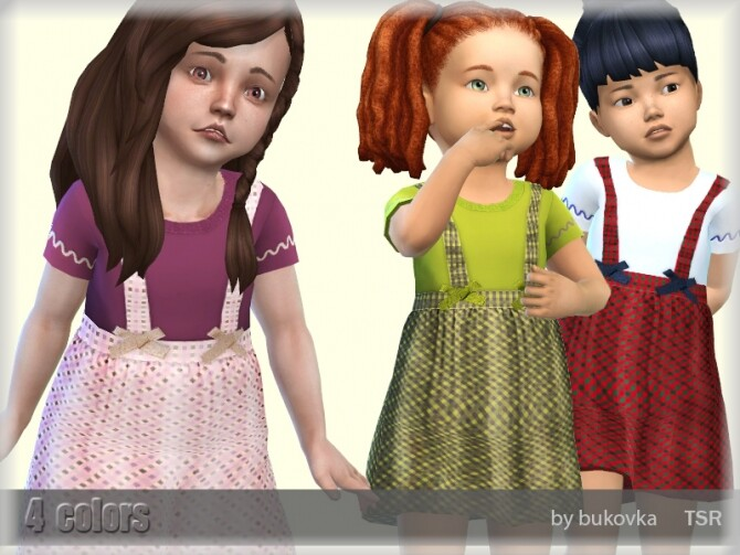 Sims 4 Dress with Harnesses by bukovka at TSR