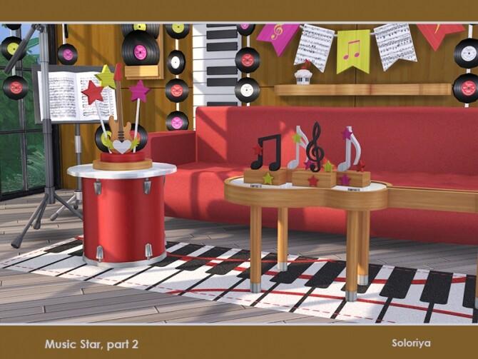 Sims 4 Music Star Set part 2 by soloriya at TSR
