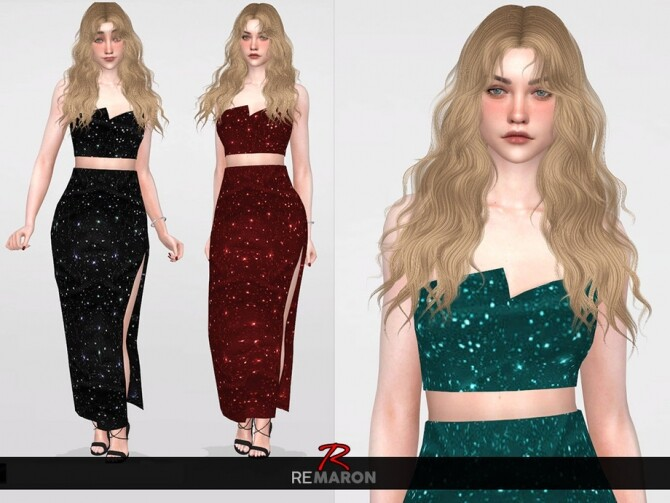 Sims 4 Party Top for Women by remaron at TSR