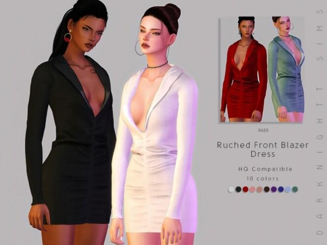 Ruched Front Blazer Dress by DarkNighTt