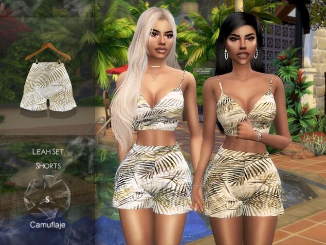 Sims 4 Leah Set Shorts by Camuflaje at TSR
