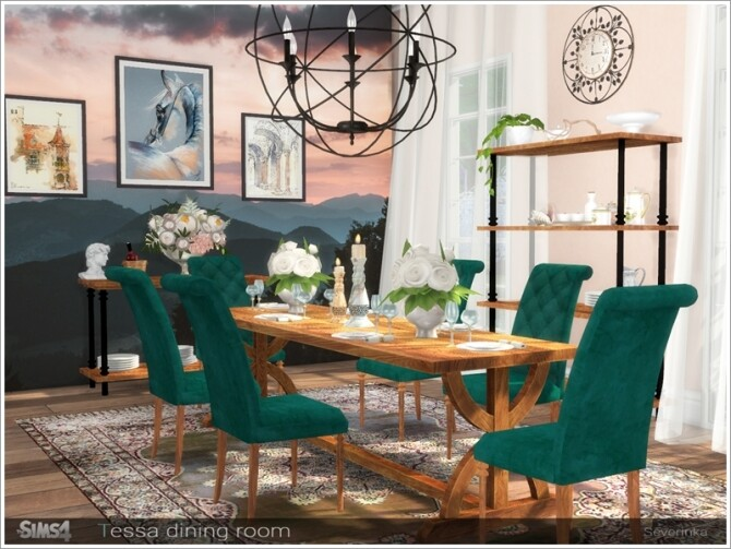 Tessa dining room by Severinka at TSR image 7124 670x503 Sims 4 Updates