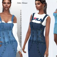 Denim short sundress by Sims House