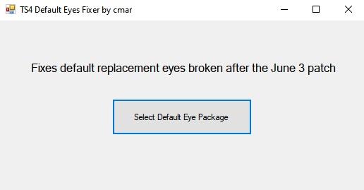 Sims 4 TS4 Default Eyes Fixer V1.1 by CmarNYC at Mod The Sims