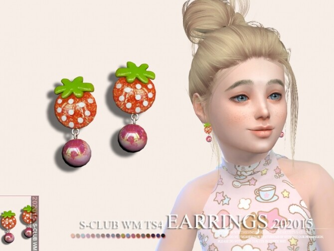 Sims 4 EARRINGS 202015 by S Club WM at TSR