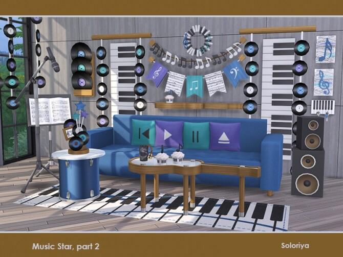 Music Star Set part 2 by soloriya at TSR image 726 670x503 Sims 4 Updates