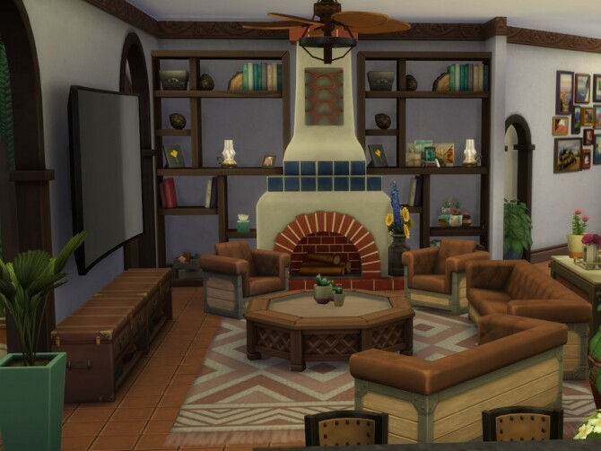 Sims 4 Adobe Family Home by NewBee123 at TSR