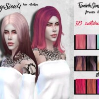 Female hair retexture TsminhSims Breeze by HoneysSims4