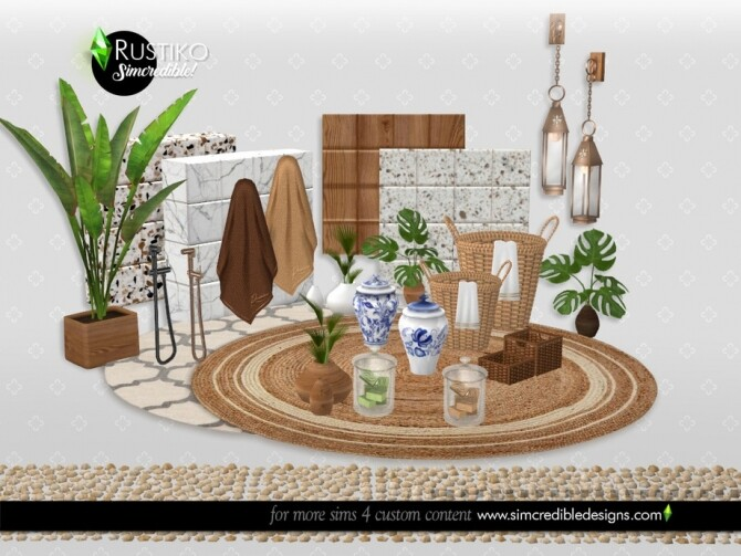 Rustiko Decor by SIMcredible at TSR image 7319 670x503 Sims 4 Updates