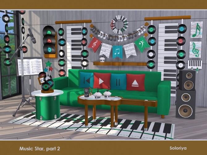 Music Star Set part 2 by soloriya at TSR image 735 670x503 Sims 4 Updates