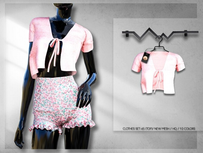 Sims 4 Clothes SET 65 TOP BD253 by busra tr at TSR