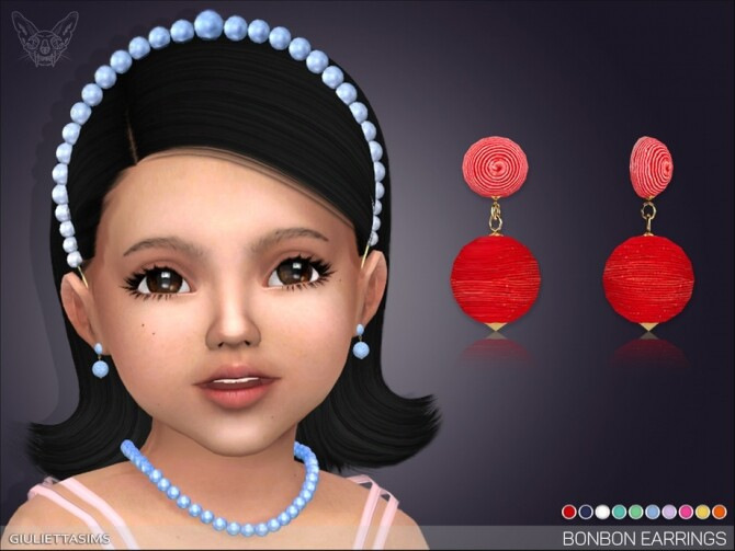 Sims 4 Bonbon Earrings For Toddlers by feyona at TSR