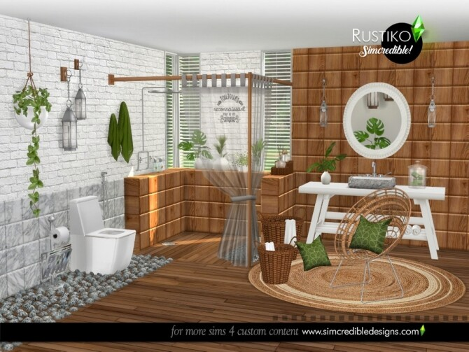 Rustiko Decor by SIMcredible at TSR image 7419 670x503 Sims 4 Updates