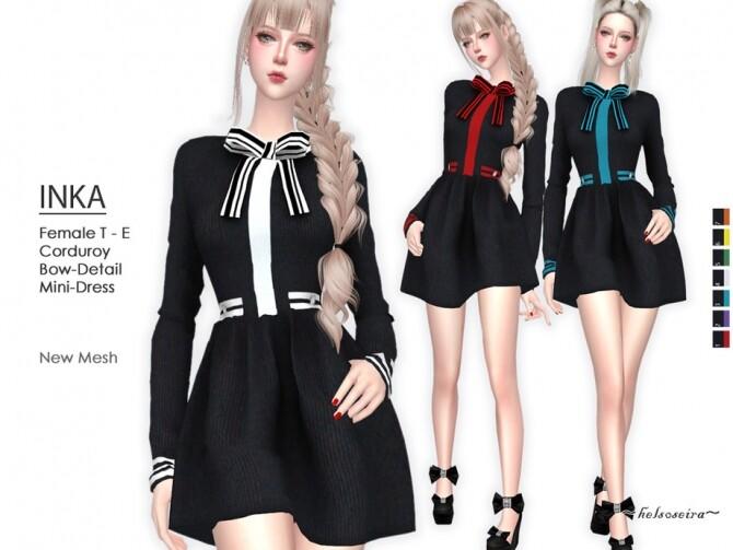 Sims 4 INKA Mini Dress by Helsoseira at TSR