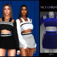 SET I VICT CHRISTYNE top and skirt by Viy Sims